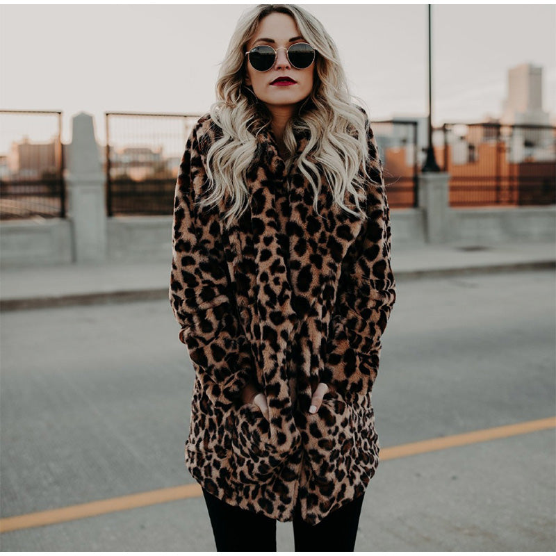 Faux Fur Leopard Coat | Designer Dresses & Accessories | My Lebaz