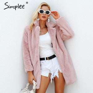 Simply Elegant Pink Shaggy Women Faux Fur Coat Jacket | Designer Dresses & Accessories | My Lebaz