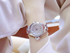 Montre Fashion Designer Luxury Diamond Silver Women Watch | Designer Dresses & Accessories | My Lebaz