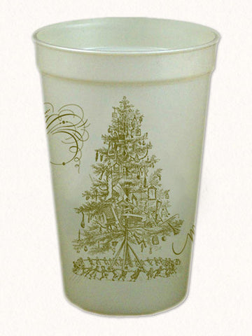 Merry Christmas 17oz Pearl Tall Souvenir Cups