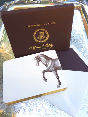Prancing Horse Engraved Notes
