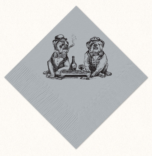 Smoking Bulldogs Beverage Napkins