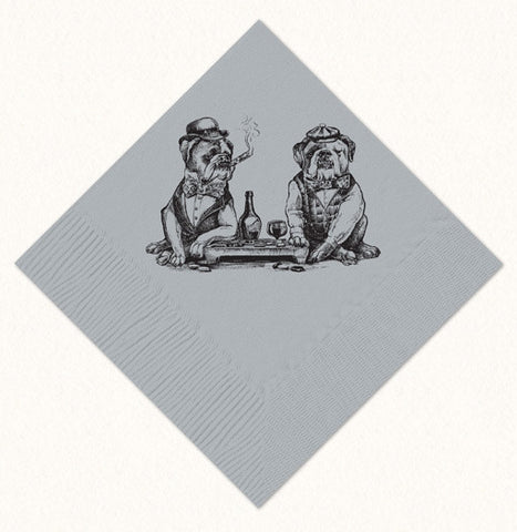 Smokin' Bulldogs Beverage Napkins