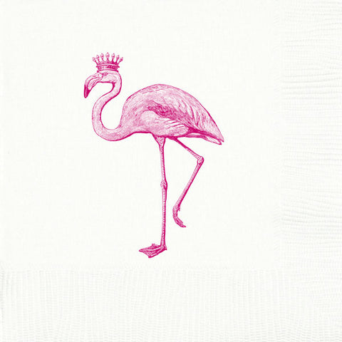 Royal Flamingo Beverage Napkins