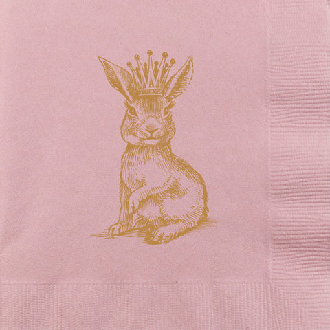 Royal Bunny Beverage Napkins