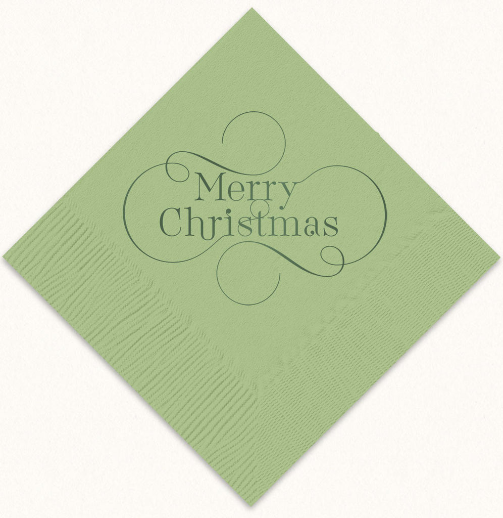 Merry Christmas Beverage Napkins