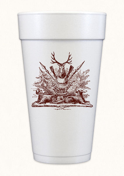 Hunting Crest Styrofoam Cup