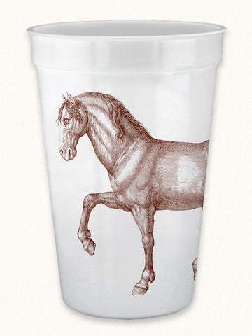 Prancing Horse 17oz Pearlized Cups