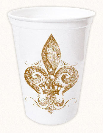 Jeweled Fleur De Lys Thermoform Cup by Alexa Pulitzer