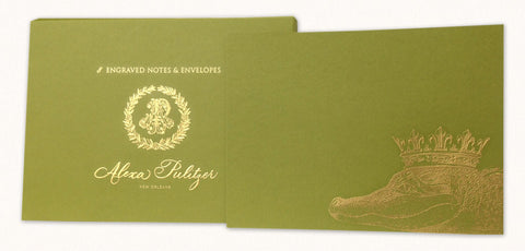 King Gator Engraved Notes
