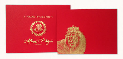 Royal Lion Engraved Notes
