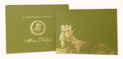 Royal Tiger Engraved Notes
