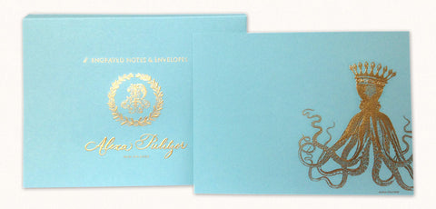 Royal Octopus Engraved Notes