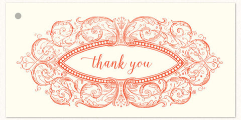 Thank you Cartouche Gift Tags