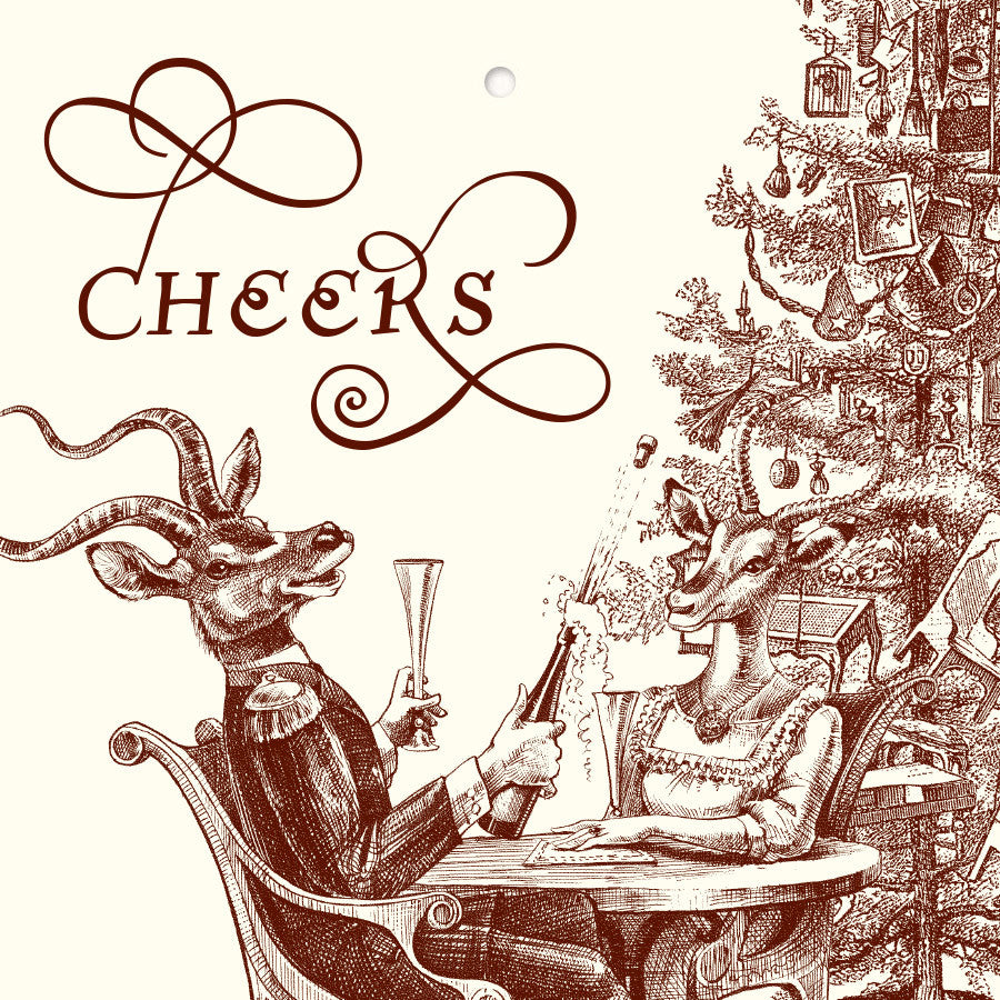 "Christmas ""Cheers"" Gift Cards"