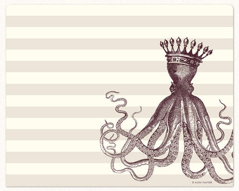 Royal Octopus Mousepad Notepad