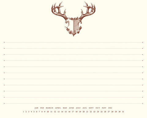 Antler Mount Mousepad Notepad