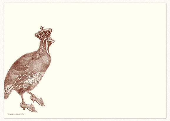 Royal Quail Notecard by Alexa Pulitzer