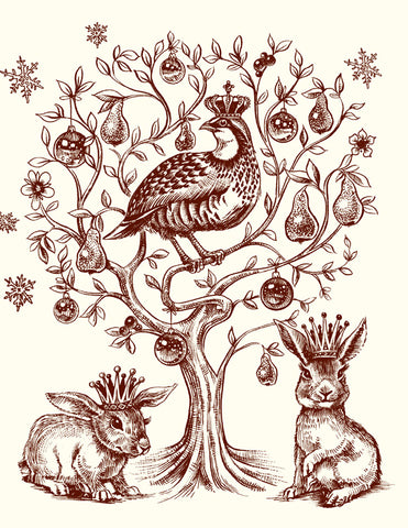 Partridge in a Pear Tree A2 Foldover Notes