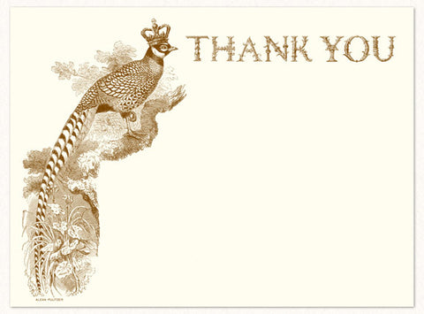 Royal Pheasant Thank You Card by Alexa Pulitzer