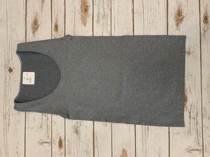 Grey Basic Thick Strap Tank