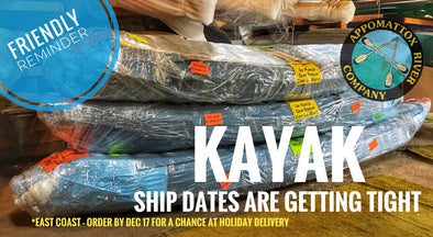 Holiday Kayak Shipping Window
