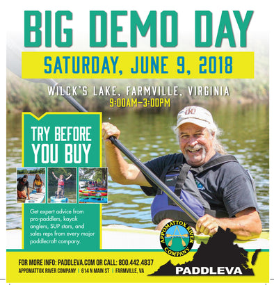 BIG DEMO DAY 2018 IS COMING! TRY OUT KAYAKS, CANOES, SUPS, ETC!