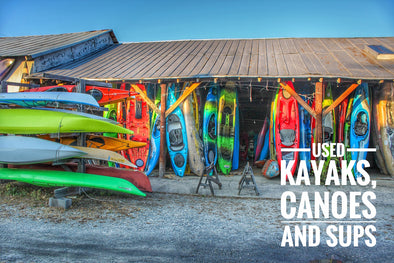 USED Fishing Kayaks, Canoes, Whitewater Kayaks and SUPs