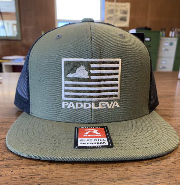 PaddleVA Flag Hat with Flat Brim