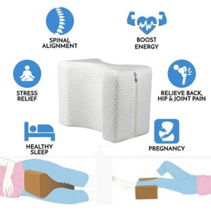 Knee Pillow For Sciatica Relief, Back Pain, Leg Pain, Pregnancy, Hip and Joint Pain