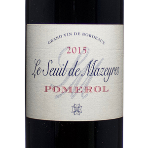the lady pearly, chateau mazeyres, le seuil de mazeyres, pomerol, 2015, red wine, bordeaux, france