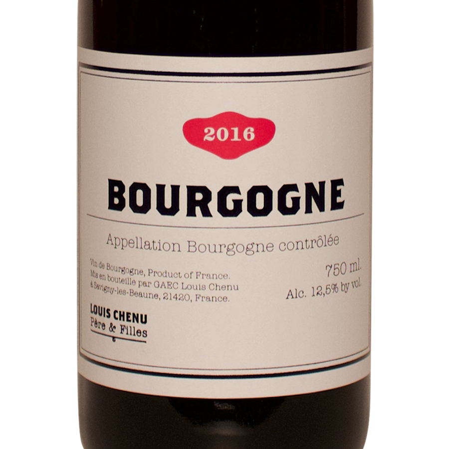 2016 Domaine Louis Chenu, Bourgogne, pinot noir, the lady pearly, female owned, organic