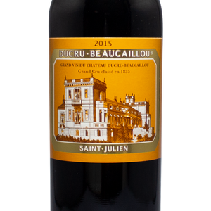 2015 chateau ducru-beaucaillou, saint julien, bordeaux france, grand cru classe 1855