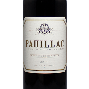 2014 Pauillac Red Blend, Bordeaux France, The Lady Pearly