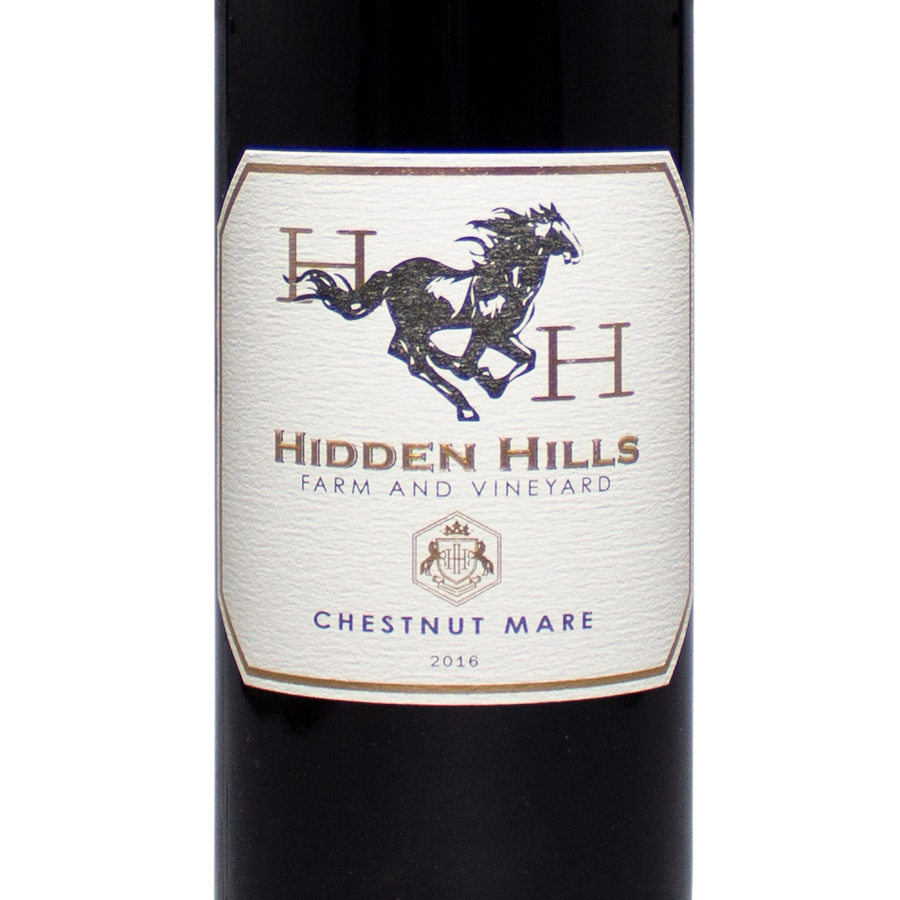 2016 hidden hills farm and vineyard, chestnut mare, red wine blend, petit verdot, cabernet sauvignon,cabernet franc, red wine, frederick maryland, the lady pearly, washington DC
