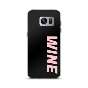 WINE Samsung Case - Black