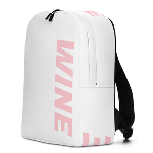 WINE backpack, bag, school, beach, vineyard, pool, winery, work, pink, rose, red, champagne, sparkling, clothing, gear, outfit, theme, fashion