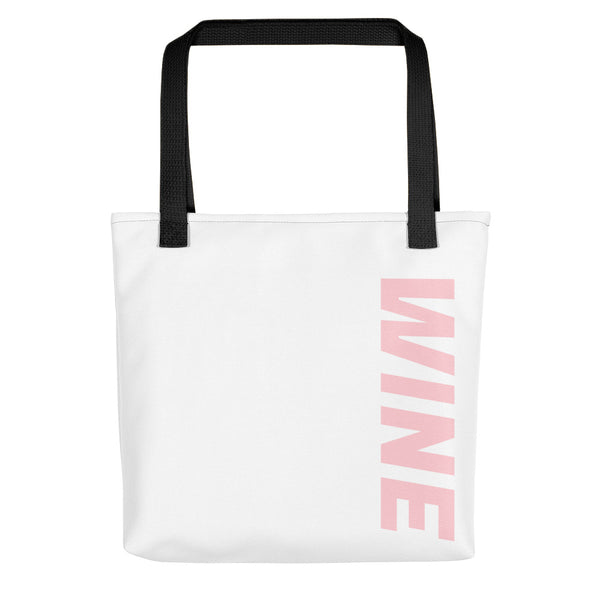 WINE tote bag, vineyard, pool, winery, work, pink