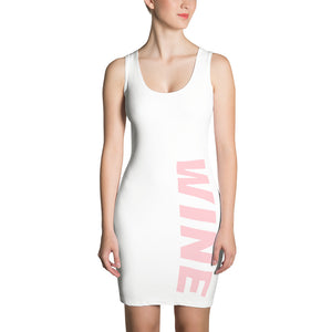 WINE dress, bodycon, slim, school, beach, vineyard, pool, winery, work, pink, rose, red, champagne, sparkling, gym, tasting