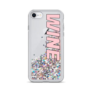 WINE Liquid Glitter Phone Case (black outline) - iPhone