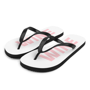 WINE sandals, flip-flop, school, beach, vineyard, pool, winery, work, pink, rose, red, champagne, sparkling, gym, tasting