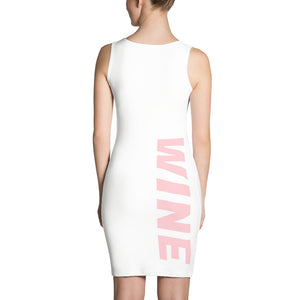 WINE Bodycon Dress - White