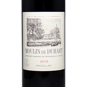 2015, moulin de duhart, red wine, pauillac, bordeaux france, the lady pearly, second label