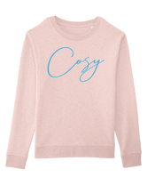 Cosy Sweatshirt  -  Pink Heather and Blue