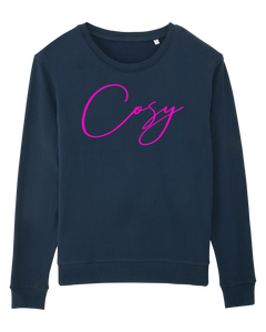 Cosy Sweatshirt  - Navy and Pink