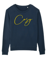Cosy Sweatshirt  - Navy and Yellow