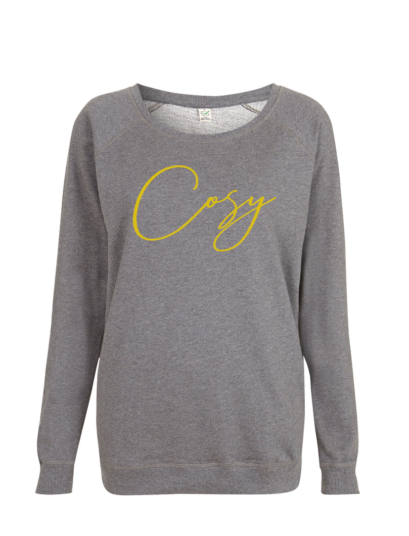 Cosy Sweatshirt  - Grey and Yellow