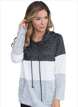 Load image into Gallery viewer, Women's Color Block Casual Long Sleeve Hoodie Pullover Sweatshirts Tops
