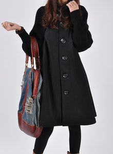 Long Female Cloak Windbreaker Loose Winter Wool Outerwear Coat