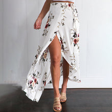 Load image into Gallery viewer, Women's Casual High Slit Floral Printed Irregular Skirt